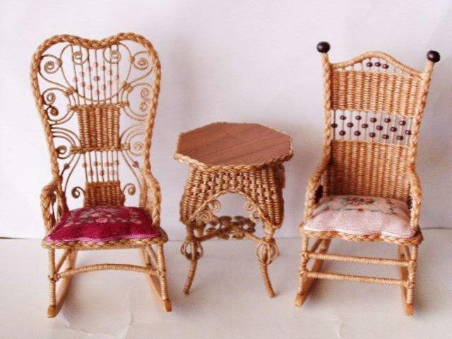 Good Sam Showcase Of Miniatures Furniture Rhea S Wicker In Miniature