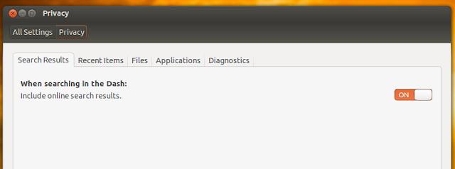 ubuntu 12.10 privacy