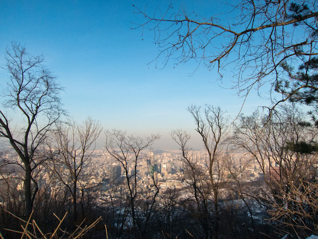 Seoul cityscape as seen on Mt. Namsan