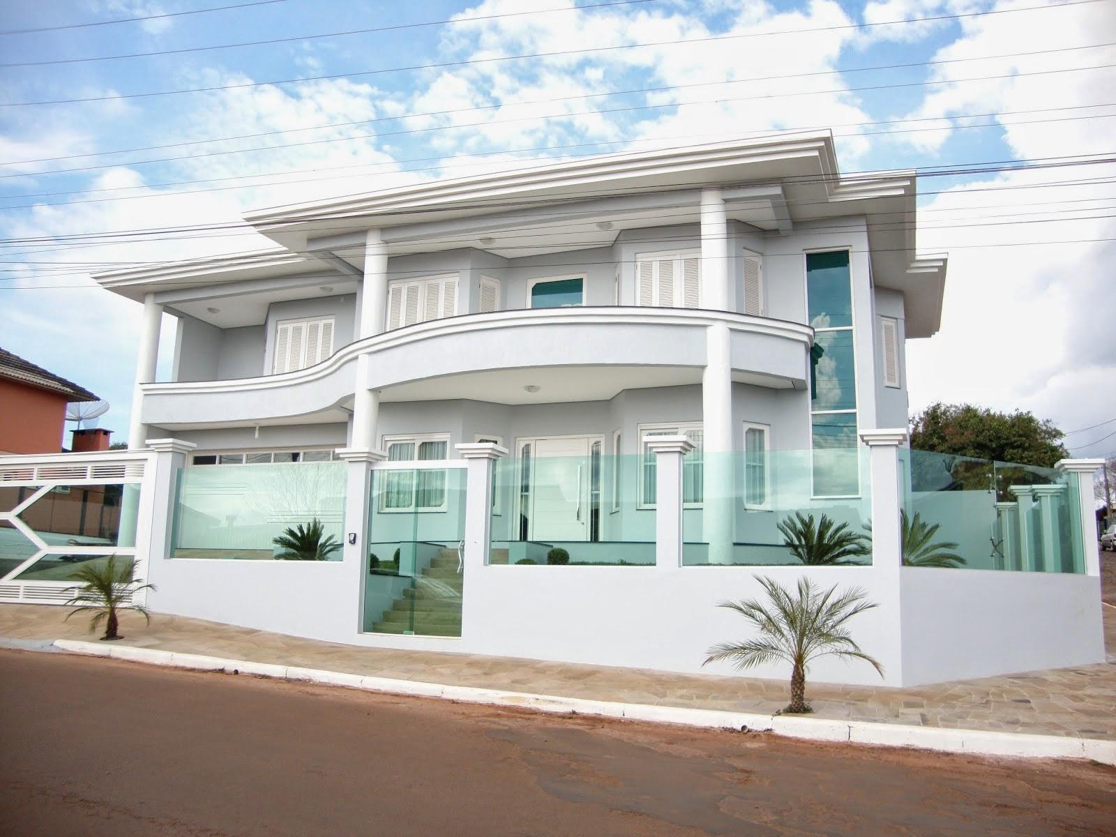 #366D95 Muros de Vidro veja 20 fachadas de casas com essa tendência  390 Janelas De Vidro Verde Ou Transparente