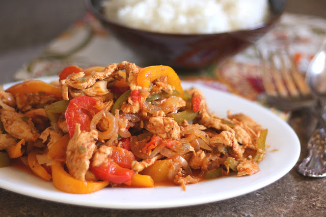 Crock-Pot Chicken Fajitas recipe by Barefeet In The Kitchen