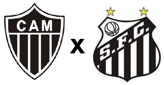Resultado de imagem para Atlético MG e Santos