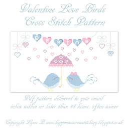 NEW 2018 Valentine Birdie cross stitch pattern