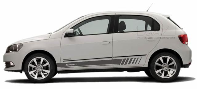 Faixa lateral adesiva VW Gol G5 G6