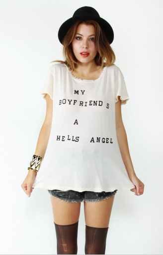 Hell's Angel Shirt by Wildfox