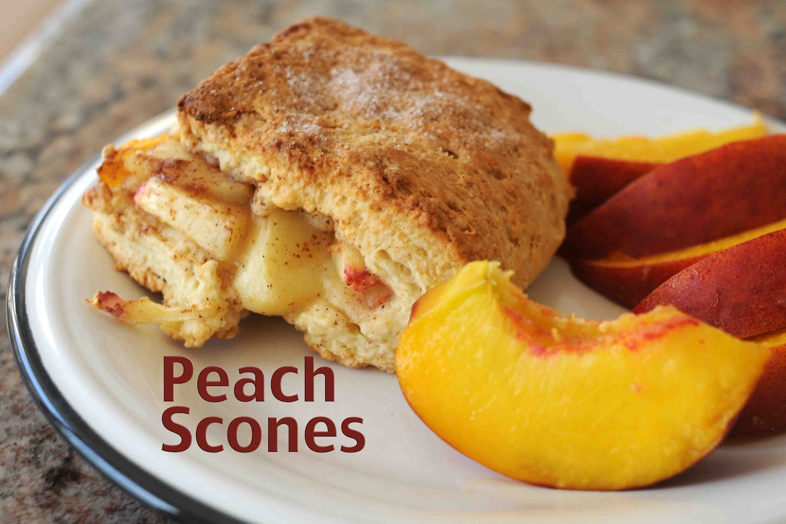 my Peach Round Up Post and it is another winner! Peach Cobbler Scones ...