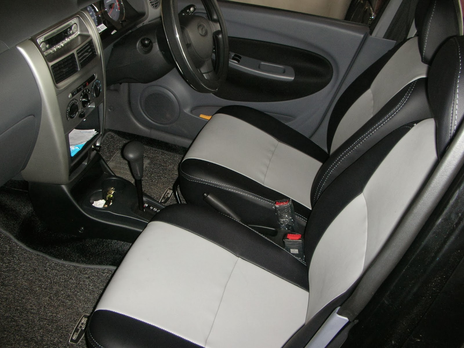 viva elite leather seat covers two tone design vip car interiors srilanka. Black Bedroom Furniture Sets. Home Design Ideas