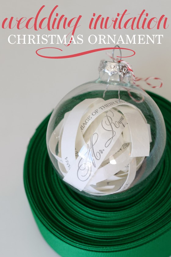 Wedding Invitation Christmas Ornament