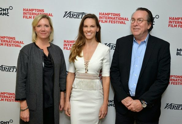 In another feeling good! the 40-year-old, Hilary Swank gleamed the daylight event at East Hampton, NY, USA with another fashion design.