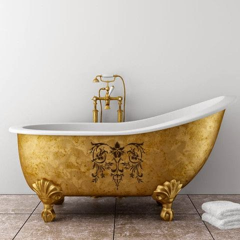 Lush Fab Glam Blogazine  Beautiful Bathroom Decor  Metallic Claw  4 Feet Bathtub   Mobroi com. 4 Foot Corner Bathtub. Home Design Ideas