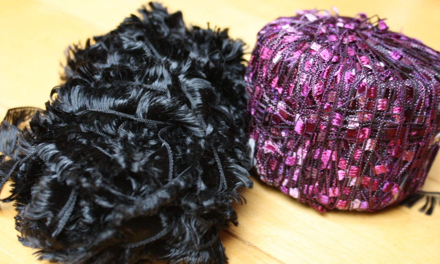 novelty yarns fun fur and ladder yarn i don t even remember the  How To Make An Infinity Scarf Out Of Yarn