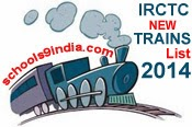 IRCTC New Train Timings 2014, IRCTC Mobile Application 2014, IRCTC Time Table 2014 New Trains List / Special Trains for Vacations 2014