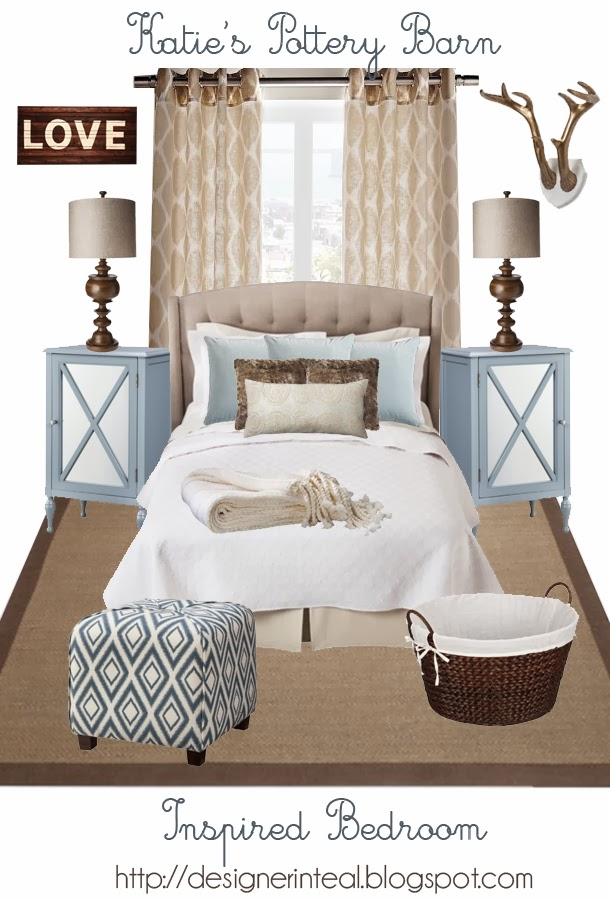 Designer In Teal Pottery Barn Inspired