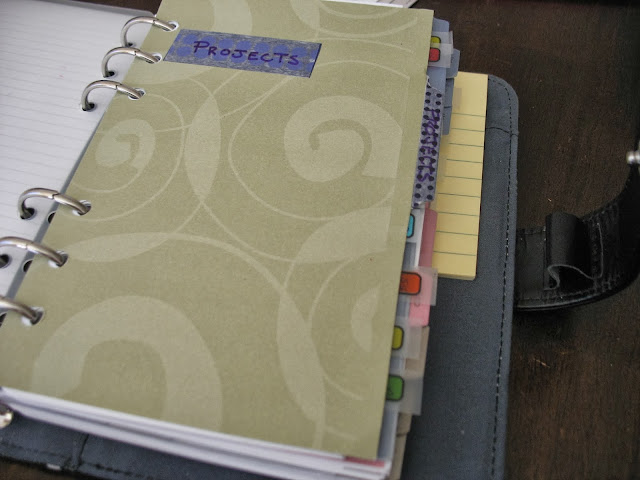 projects, planner tabs, planners, blue planner
