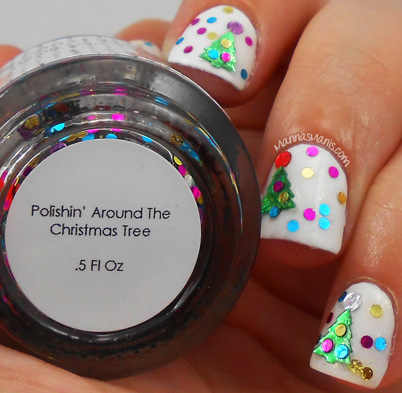indie nail polish, quaint paints polishin around the christmas tree