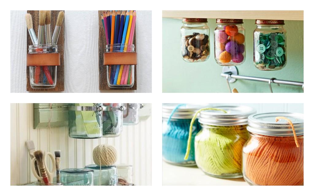 Inspire others mason jars ideas for Mason jar craft storage