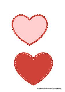 Moldes de corazones para imprimir