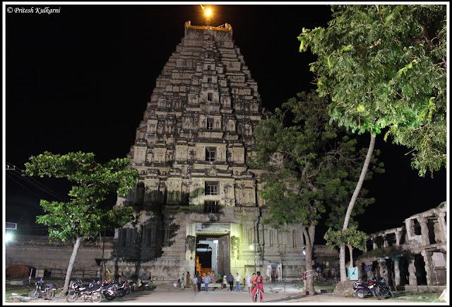 Virupaksha temple tower, Hampi
