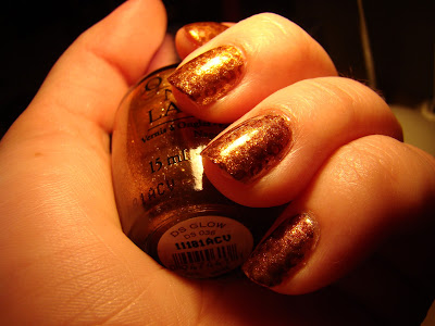 OPI DS Glow stamped with SH Coco-a-Go-Go