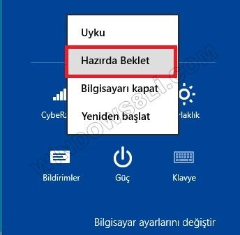 Windows 8 Hazırda Beklet