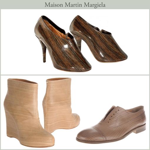 WOOD SHOES - MARTIN MARGIELA