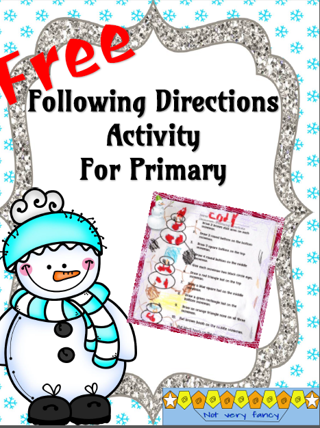 Students design some cute snowmen by carefully following the directions.