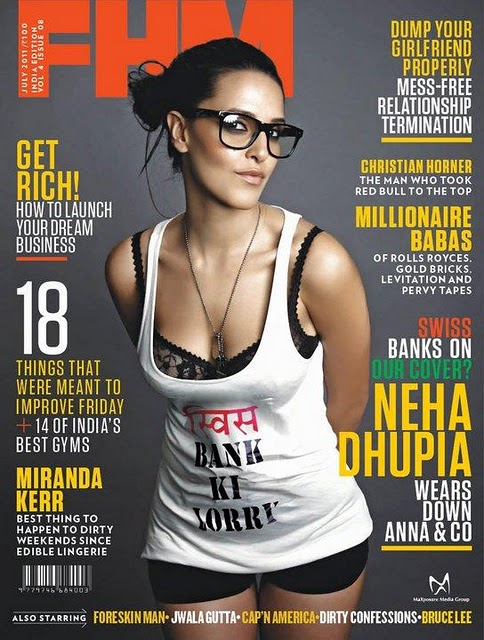 Neha Dhupia FHM Scan1 - Neha Dhupia FHM July 2011 Scans