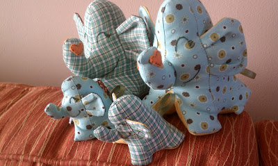 Stuffed Animal Elephant Family
