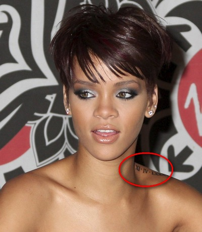 Rihanna Tattoos on Female Tattoo  Rihanna S Tattoos