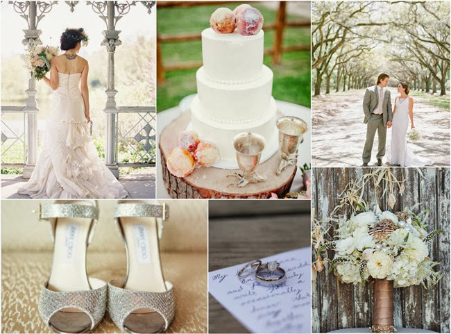 frosted elegant gray fall wedding ideas