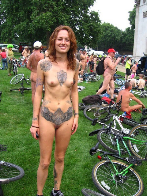Body Painting in Naked Bike Ride Event - NUDIST IMAGES