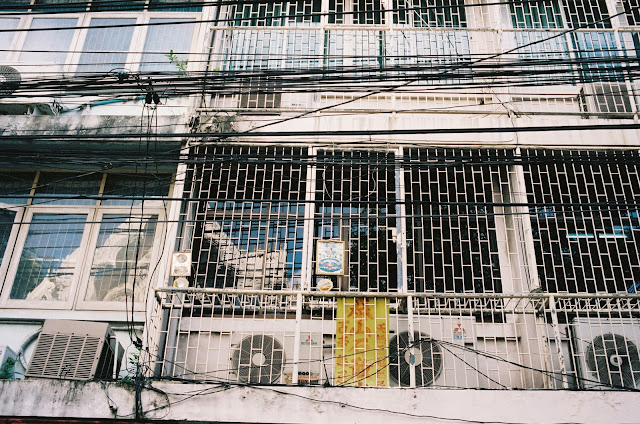 Color film Photography Bangkok of building exterior