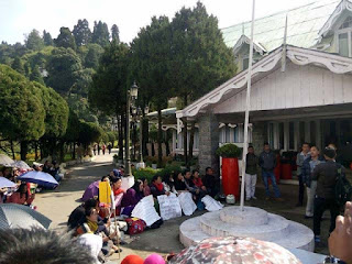 Darjeeling voluntary teachers protest in front of lal kothi