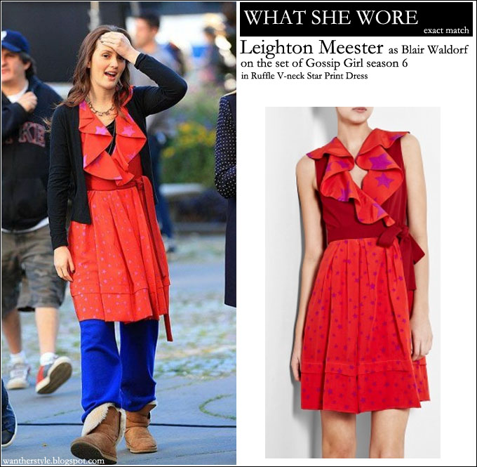 WHAT SHE WORE: Leighton Meester as Blair Waldorf Gossip Girl set ...