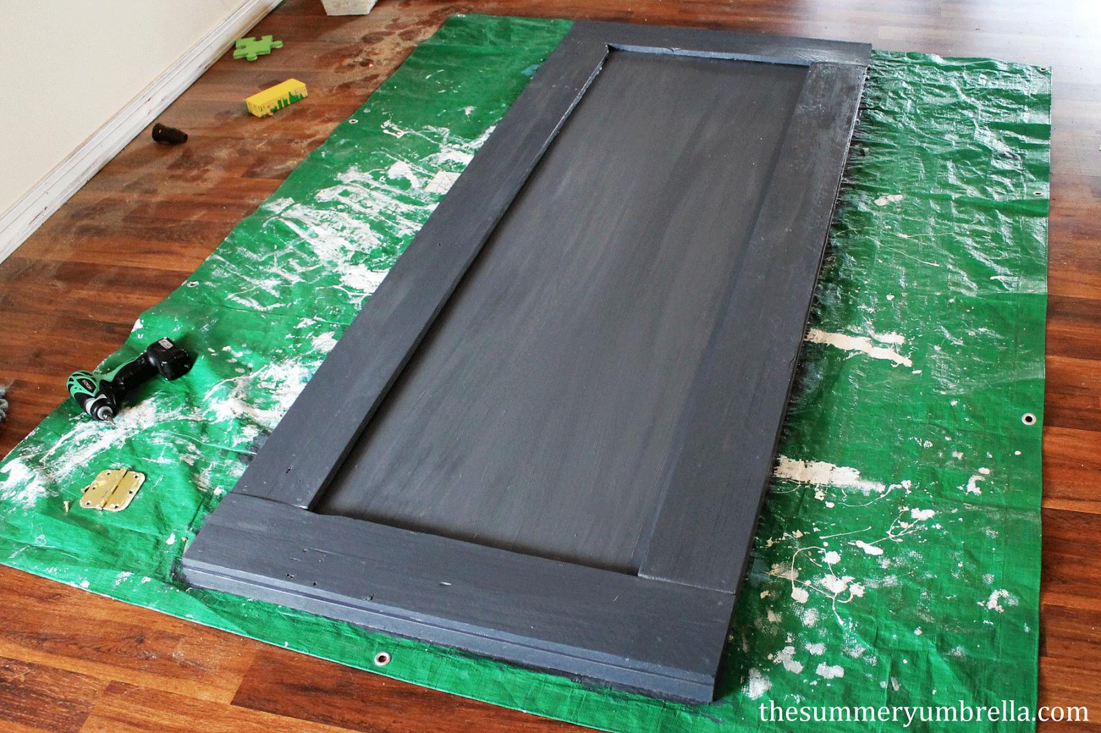 diy reclaimed wood paneled door