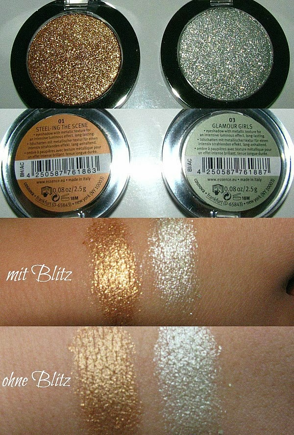 essence Metal Glam Eyeshadows - Reviews, Fotos, Swatches