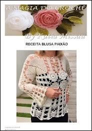Receita Blusa Paixão