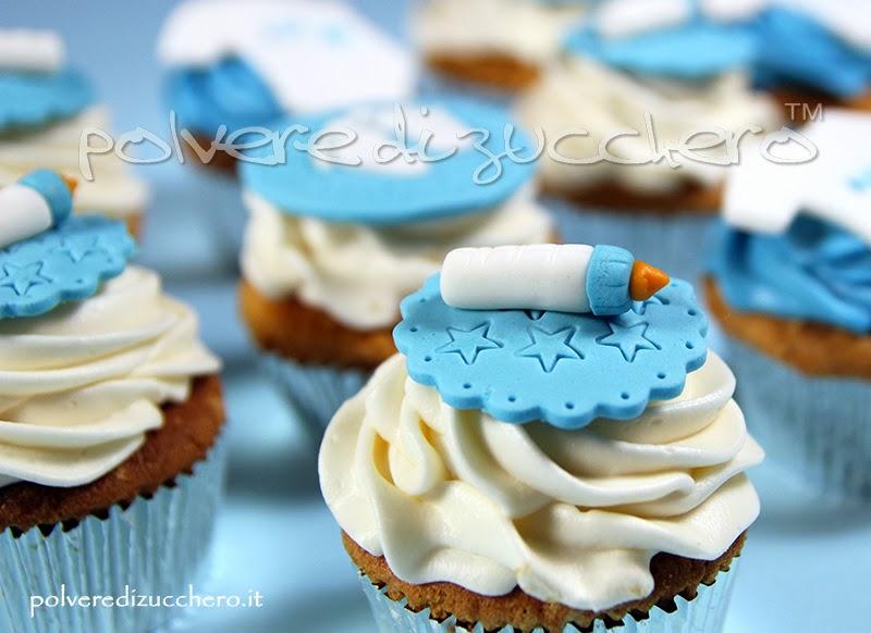 cupcakes baby boy polvere di zucchero