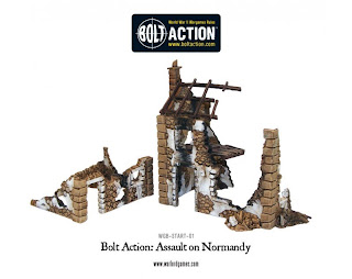 Bolt Action Assault on Normandy Starter Set, Ruined Farmhouse