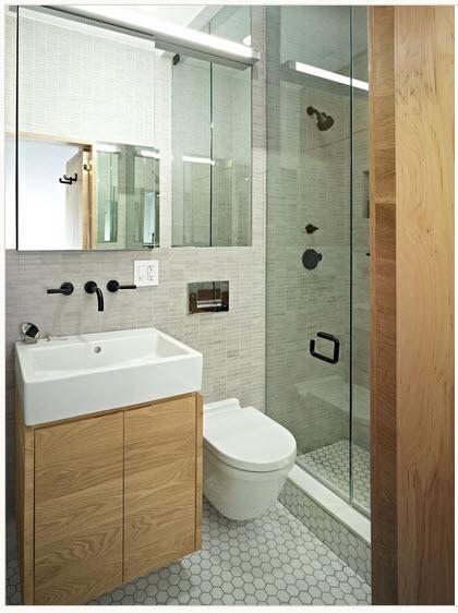 el lavabo el inodoro y la ducha estan en una misma pared como comentamos en el tip numero esto permite ahorrar en las sanitarias