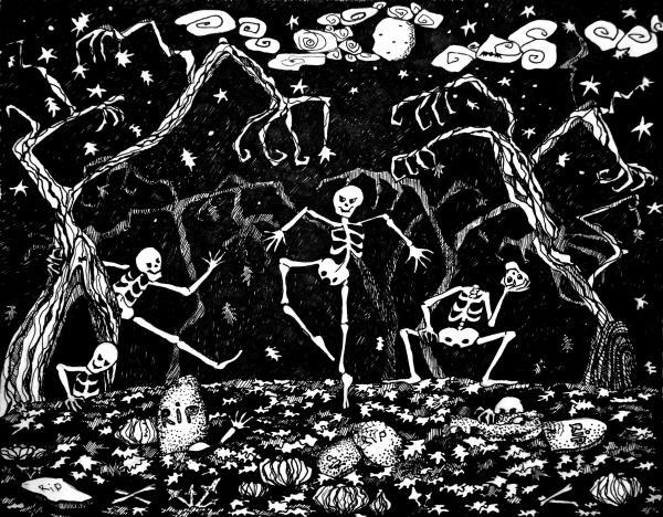 halloween skeleton wallpaper - photo #14