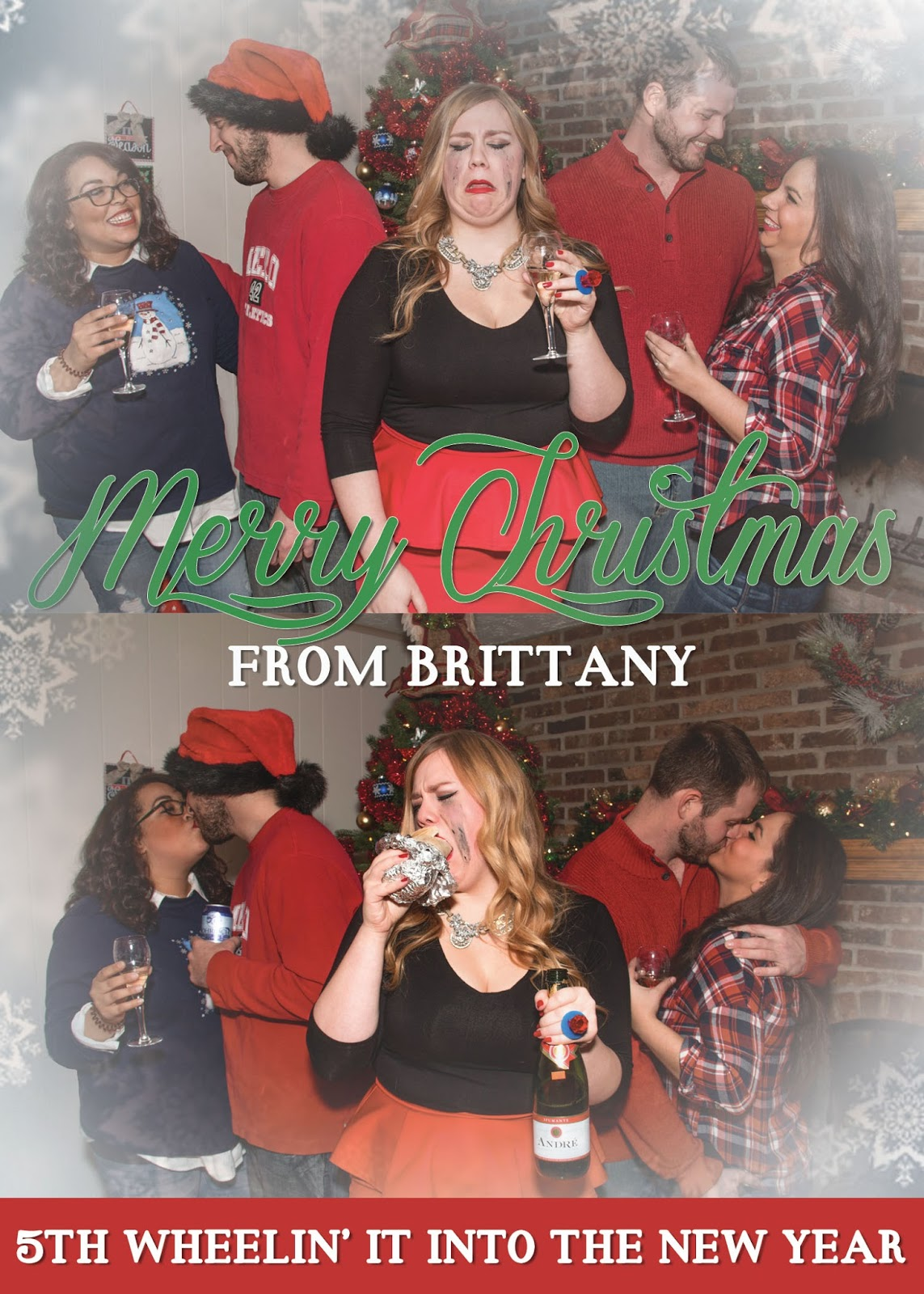 single girl christmas card 2015 positively plus plus