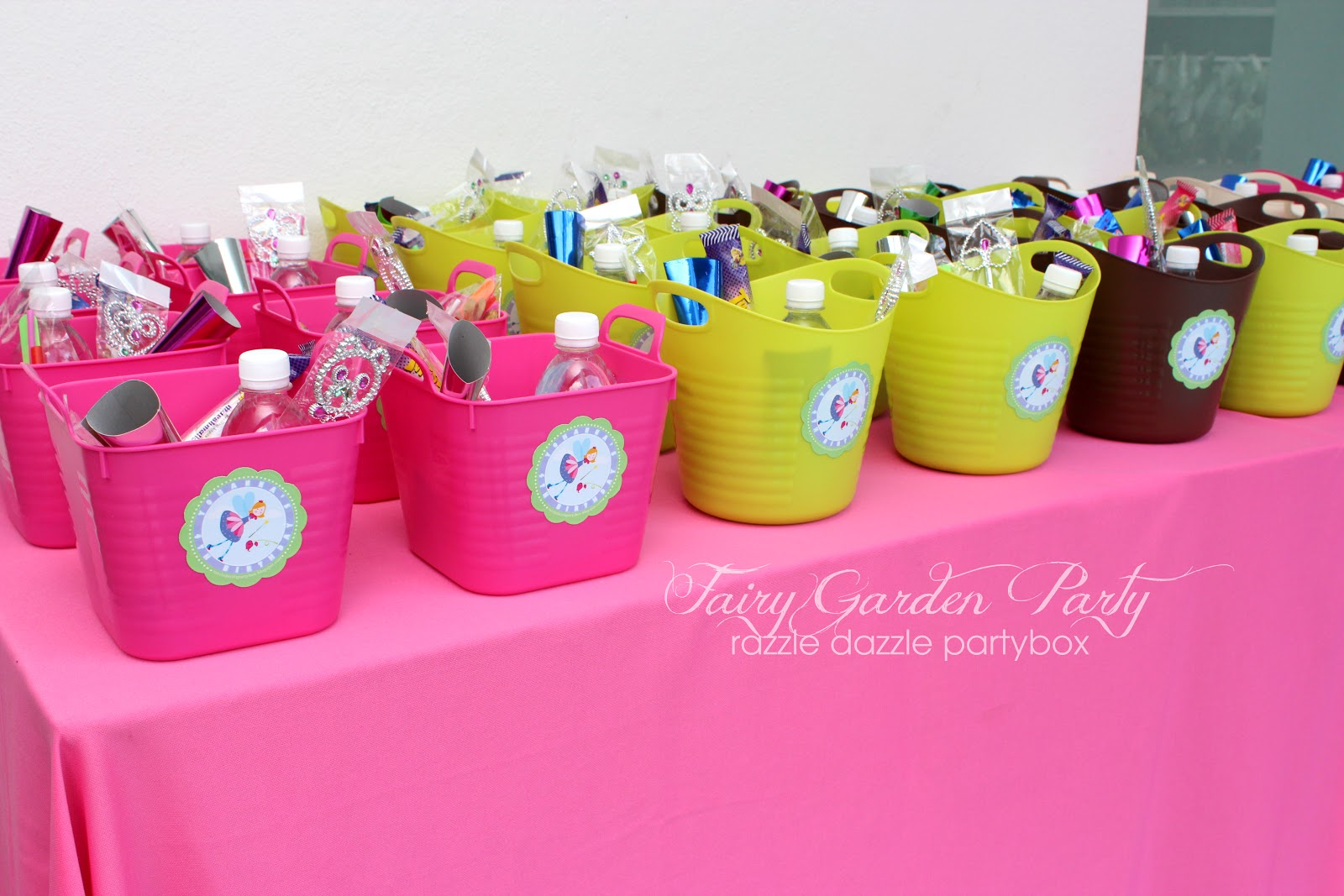 Razzle Dazzle Party Box Themed Birthday Party Fairy Garden Party