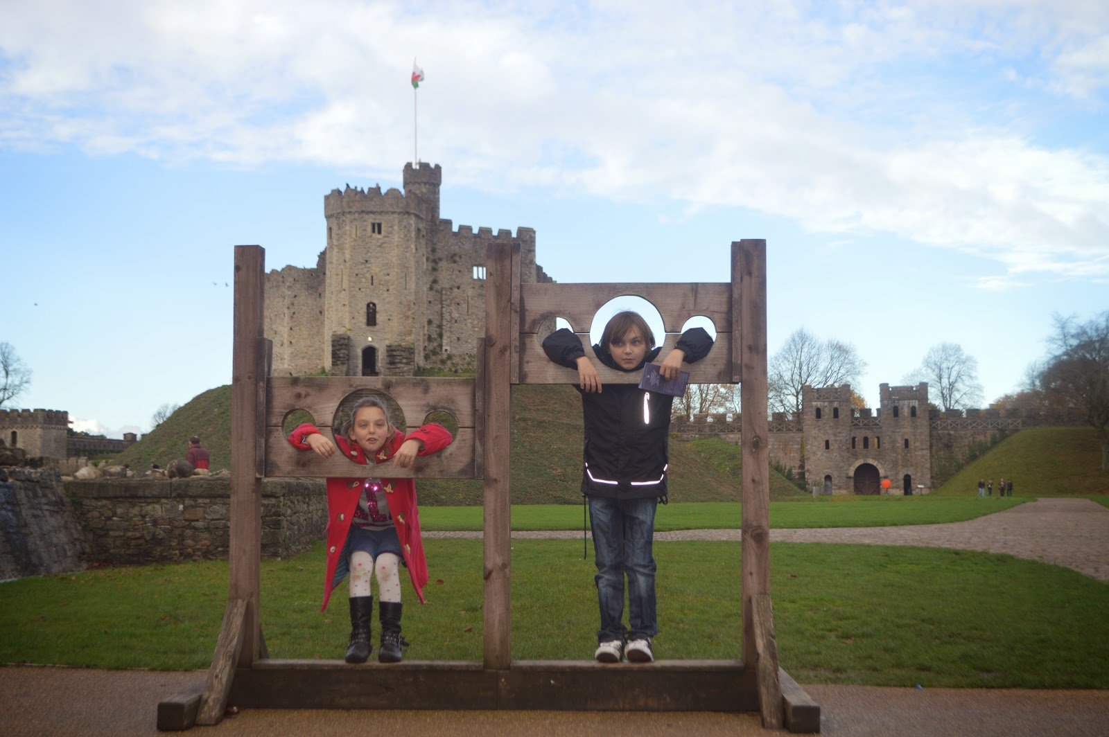 Cardiff Castle Stocks  and Keep