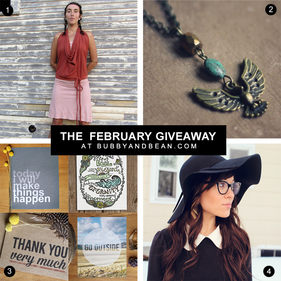 February Giveaway at Bubby and Bean // Win $  220 Worth of Goodies!