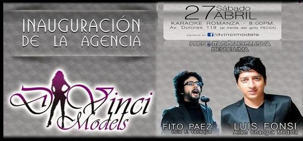 Inauguracion de Agencia D' Vinci Models (27 abril)