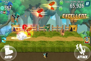 Screenshots of the Power Rangers Dash for Android tablet, phone.
