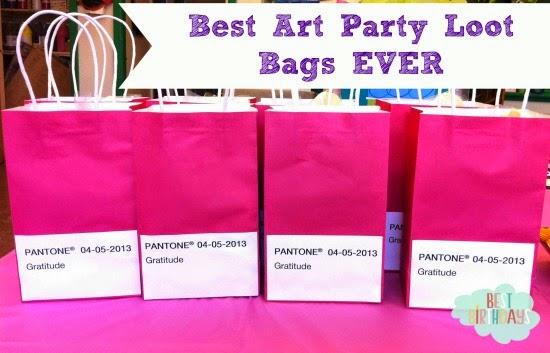 Art Party Treats     Best Birthdays