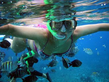 Esnorkel, una forma de iniciarse en el buceo