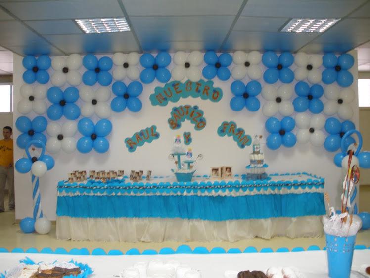 Arreglos para mesas para bautizo de gemelos for Decoracion de mesa para bautizo